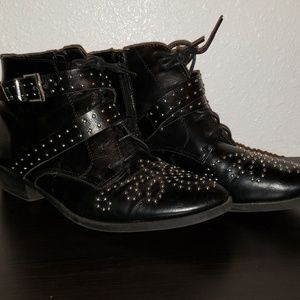 Studded Boohoo Ankle Boots